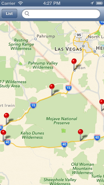 Rest Area Locator for US highway - Pro