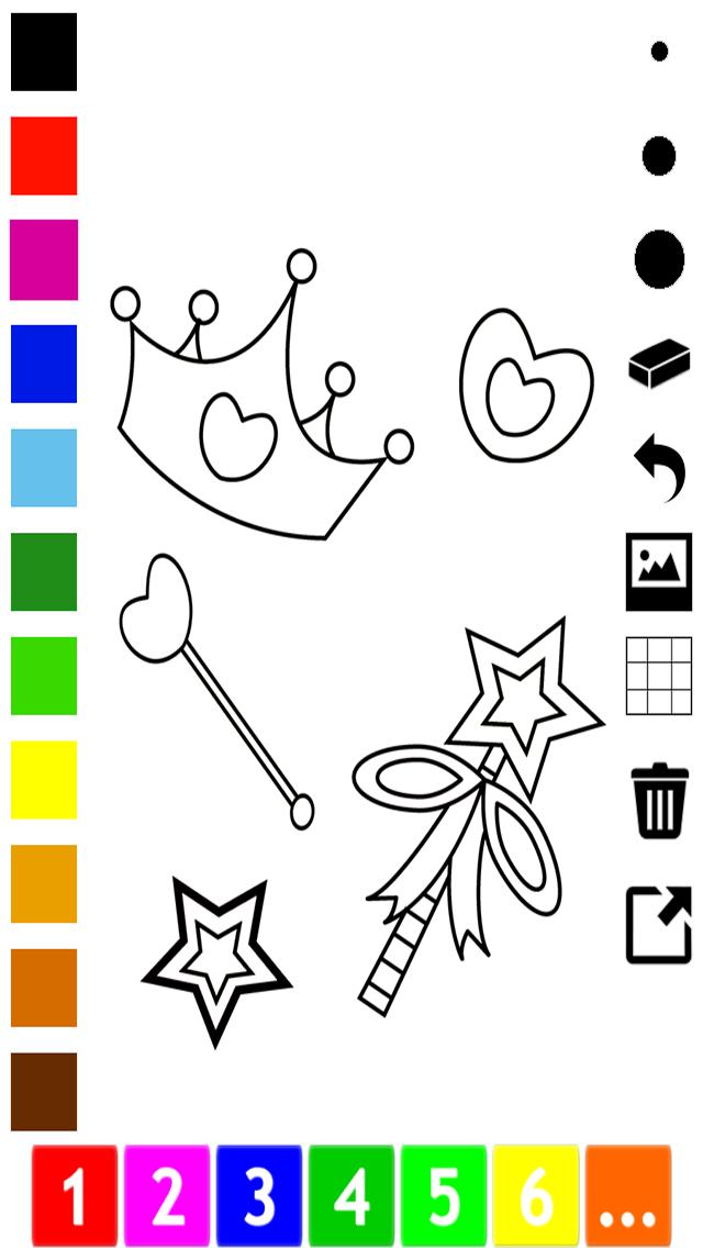 活躍!圖畫書 公主的女孩:有很多照片像灰姑娘,王國,城堡和馬屏幕截圖4