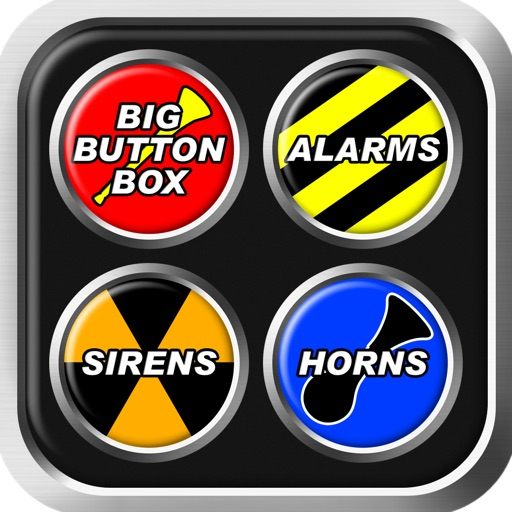 Big Button Box: Alarms, Sirens & Horns - police siren sounds, annoying noises, smoke alarm noise, fog air horn effect, cop car beep, airhorn, fire truck, ambulance & train sound effects