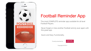 Football Reminder App - Timetable Activity Schedule Reminders-Sport screenshot one