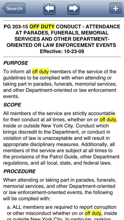 NYPD Patrol Guide 2013 screenshot-2