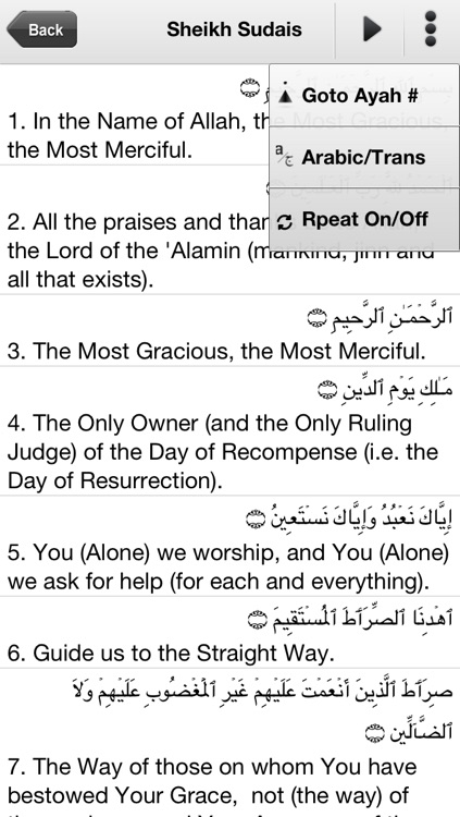 Al Quran Kareem - 7 Qari & 25 Translations screenshot-4