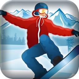 Crazy Downhill Snowboarding Stunt Racing Hero