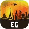 エジプト オフラインマップ、ガイド。ホテル、天候、旅行 カイロ,ルクソール,アレキサンドリア,ギザ