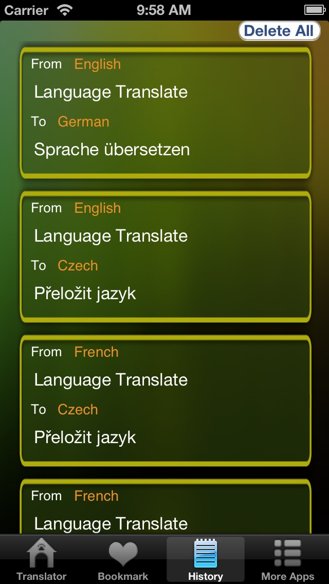 Language Translator Lite HD Скриншоты6