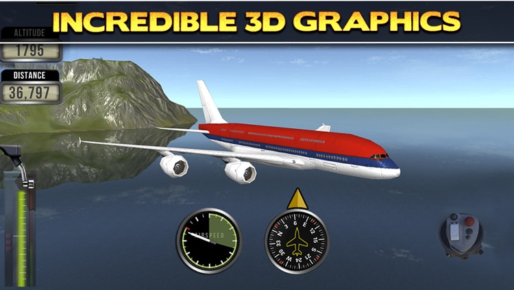 3D Plane Flying Parking Simulator Game - Real Airplane Driving Test Run Sim Racing Games screenshot-3