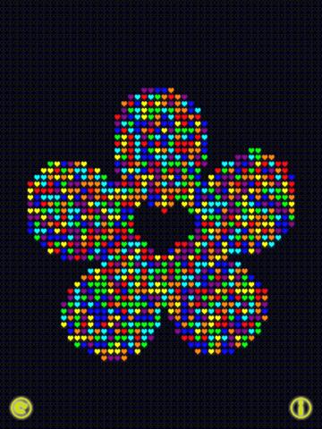 Glow Neon Heart Lights Lite Скриншоты9