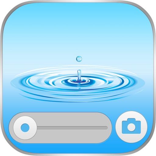 Блокировка экрана водой и пузырьками Специальное коллекция обоев