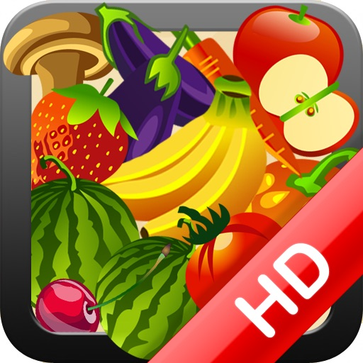 HD Fruit and Veggie Memory Match Free