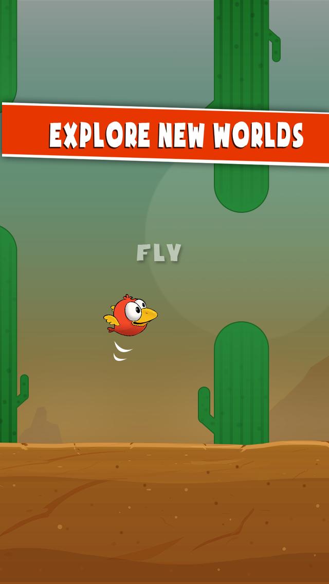 Brave Adventures of a Tiny Bird: Flap Around screenshot two
