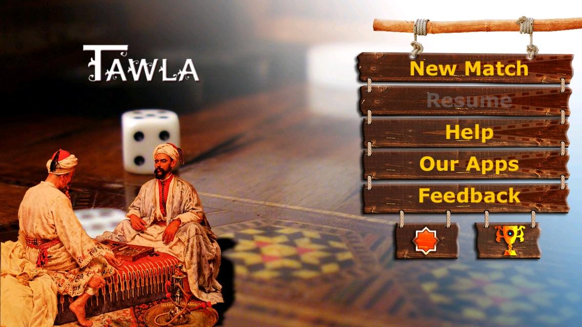Tawla - Lite (Backgammon Game – Arabian Style) Screenshot