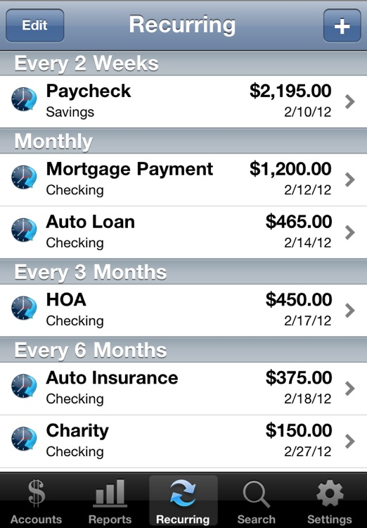 Accounts - Checkbook screenshot-3