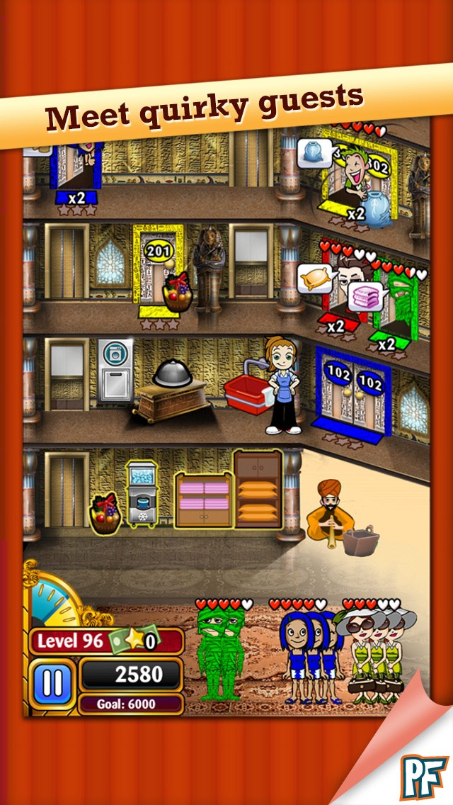 Hotel Dash Deluxe Screenshot on iOS