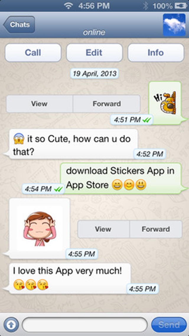 ... Stickers for Messenger Apps, Messages, Hangouts, Viber, WeChat, eMail,  Twitter ...