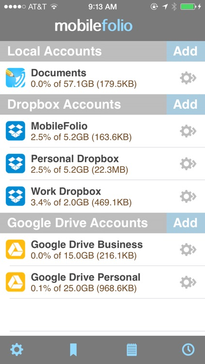 MobileFolio - Markdown Notes with Dropbox and Google Drive Support