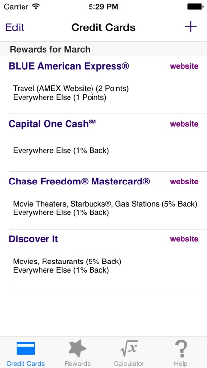 Reward Check - Maximize and Track Credit Card Cash Back, Points, and Miles
