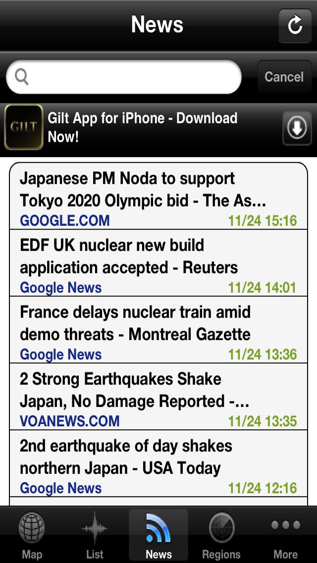 点击获取Earthquake Alerts and News Information
