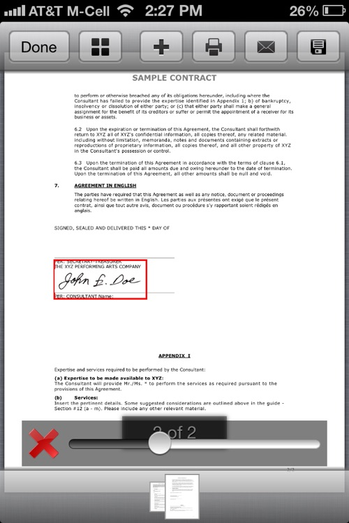 PDF Sign for iPhone : Sign and fill PDF documents screenshot-0