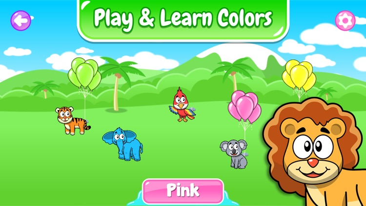 Animals for Toddlers: Match'em - Puzzle, Guess the Colors and Card Matching Memory Game for Kids screenshot-3