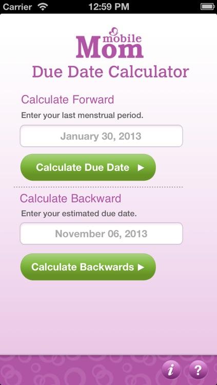 Pregnancy Due Date Calculator - My Baby Wheel & Countdown Birth Calendar