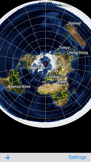 New Flat Earth Map.Flat Earth Satellite Image Viewer On The App Store