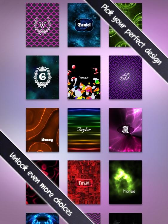 Neon Monogram HD FREE - Designer Wallpaper, Icon Skin Monograms and Customized Backgrounds screenshot-4