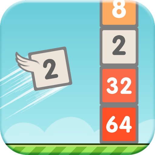 Flappy 2048 - Flap your wings and Jump through the Tiles to reach 2048 Tile!