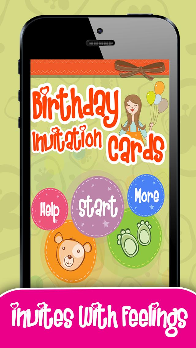 Birthday Invitation Cards Screenshot