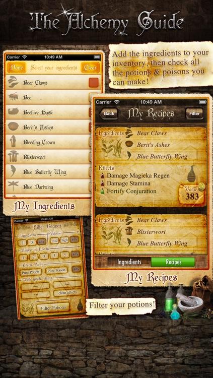 Alchemy Guide - The Skyrim Potions Helper screenshot-3
