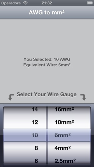Awg to mm on the app store screenshots greentooth Gallery