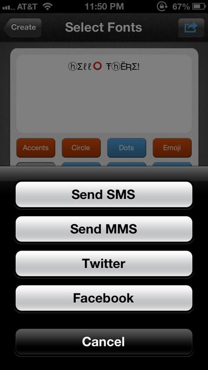 Social Fonts screenshot-4