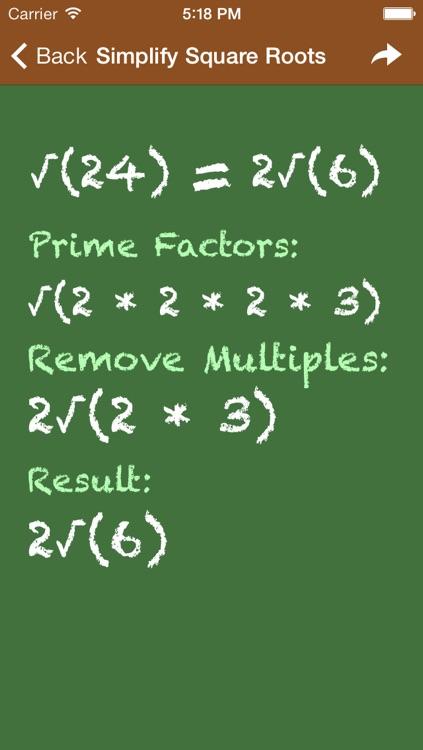 Pocket Algebra screenshot-3