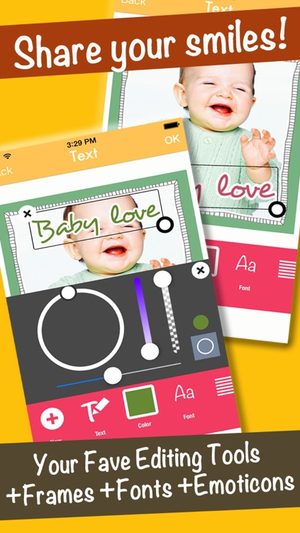 SmileyGram - Photo Edit with Emoticons, Frames, and Fonts screenshot-3
