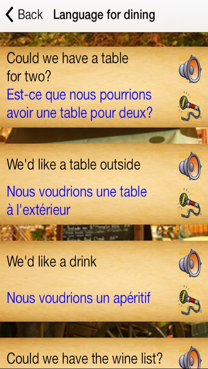 French Menu screenshot-1