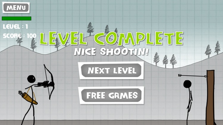 Stickman Apple Shooting Showdown - Free Bow and Arrow Fun Doodle Skill Game screenshot-3