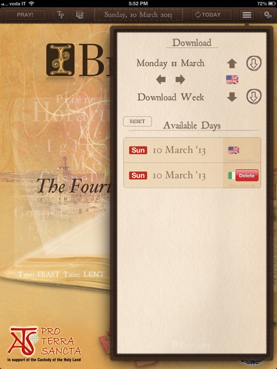 iBreviary Pro Terra Sancta HD screenshot-3