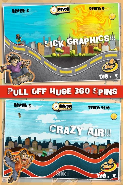 Skateboard Racing - 360 Big Jump
