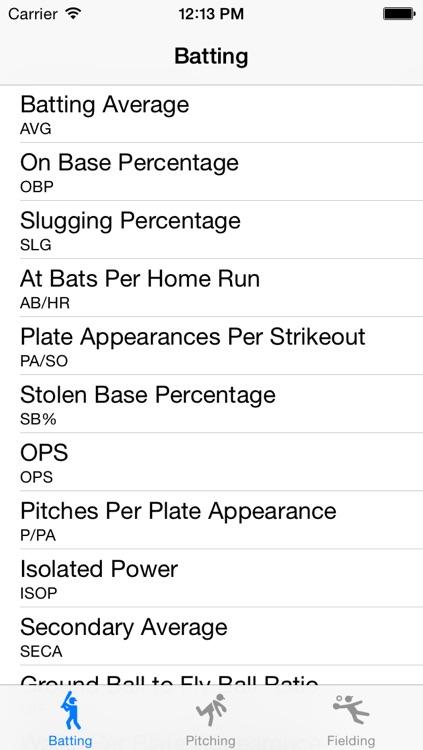 Baseball Statistics Calculator