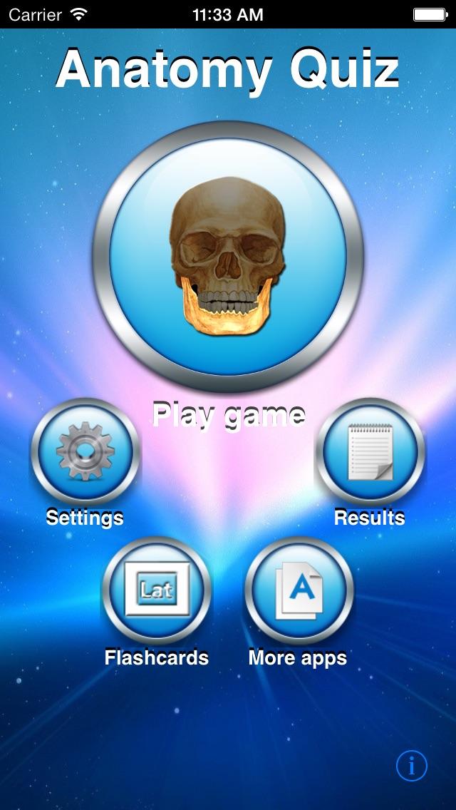 Screenshot for Anatomy Quiz in Denmark App Store