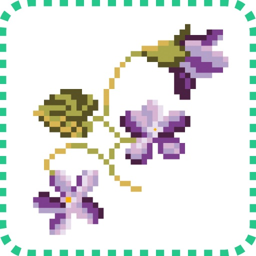 Cross stitch – Flower language icon