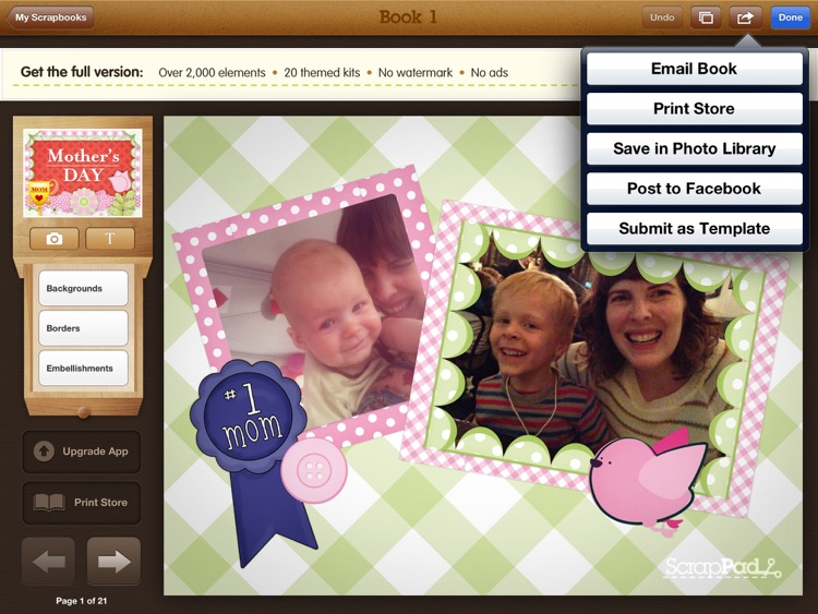 ScrapPad - Mothers Day Photo Journal
