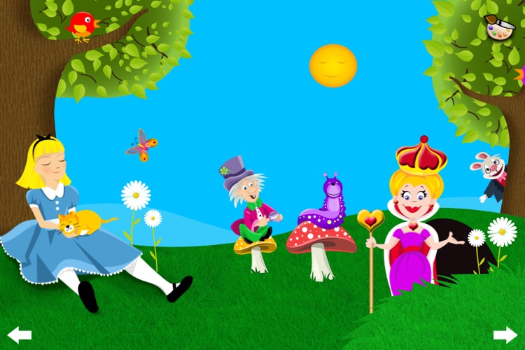 Alice in Wonderland - Interactive story book and coloring pages screenshot-3