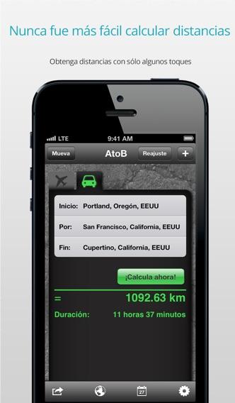 download AtoB Calculadora de Distancia Gratis—fácil y rápida medida de rutas en aire o en coche desde punto A hasta punto B para viajes y más apps 1