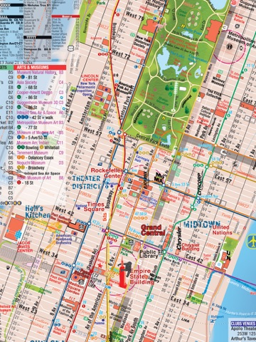 Manhattan Nyc Map And Guide Plus Subway By Alberto Michieli On Apple