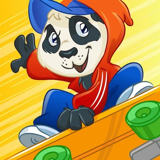 """Бесплатная игра Skate Panda Escape - разработана компанией """"Лучшие Бесплатные Игры для Детей, Интерессные Игры - Бесплатные Приложения Игры"""