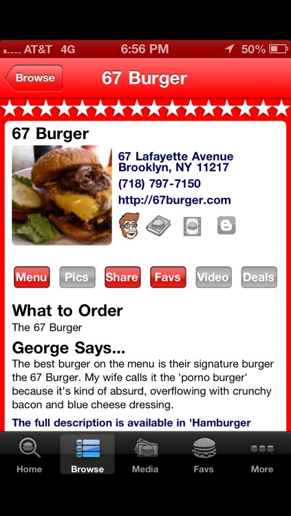 Burger GPS screenshot-2