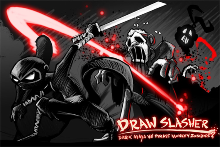 Draw Slasher: Dark Ninja vs Pirate Monkey Zombies