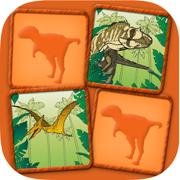 恐龙-夫妇游戏: 孩子的有趣记忆练习