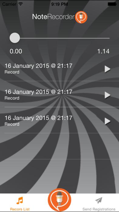 Screenshot of Note Recorder5