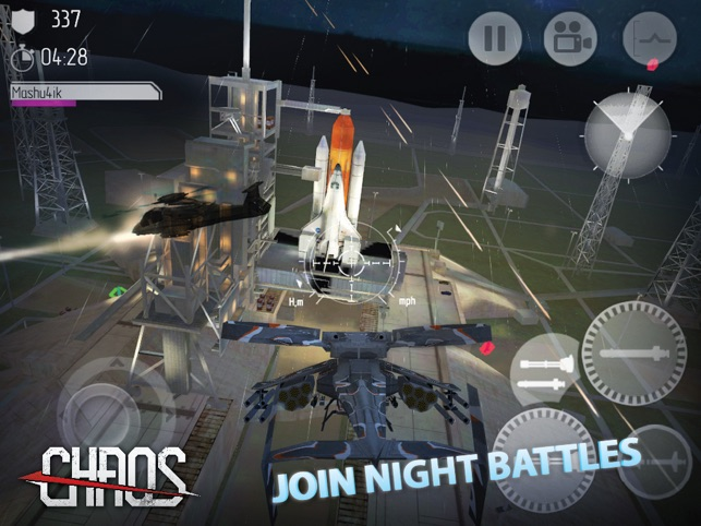 CHAOS Combat Copters -‐ #1 Multiplayer Helicopter Simulator 3D on